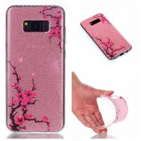 Quality Ultra Slim Soft TPU Shiny Shine Cell Case Cover IMD Glitter Back For Samsung Galaxy for sale