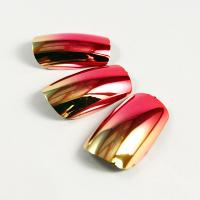 Buy cheap Gold / Red Noble Fake Fingernails Art Shinning Plating Artificial Nail ABS Plastic from wholesalers