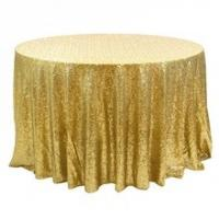 Wholesale high quality ,cheap sequin fabric ,round table cloth from china suppliers