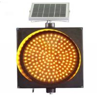 Wholesale Best price 400mm solar LED Amber Warning Light solar traffic light from china suppliers