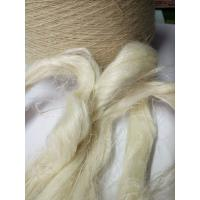 Quality Eco Friendly Weaving Spinning Hemp Short Fibres For Coarse Yarn 5NM / 8.5NM / 10.5NM for sale