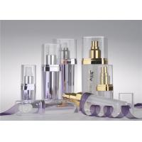 Wholesale Dark Purple PMMA Airless Pump Bottles Column Shape Cosmetic Pump Bottle from china suppliers
