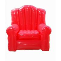 Double Seat Blue Inflatable Sofa Chair PVC For Party Room
