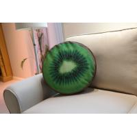 Wholesale Kiwi Berry Large Sofa Pillows Back Cushions Brown / Green Soft Velvet Fabric from china suppliers