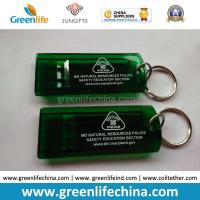 Wholesale Customized Green Flat Alerting Whistle White Logo Printed w/Key Ring from china suppliers