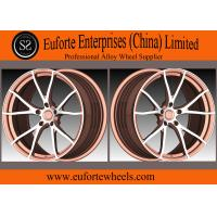 Quality SS wheels-Y Shape 5Spoke 1 Piece Forged Wheels Aluminum Alloy Black With Orange Face for sale