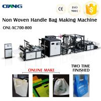 Wholesale Automatic Non-Woven Flat Bag /Nonwoven T Shirt Bag Making Machine With Handle from china suppliers