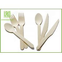 Buy cheap Food Grade Premium Birch Disposable Eco Friendly Wooden Cutlery Fork Knife Spoon from wholesalers