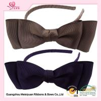 Wholesale Brown Grosgrain Ribbon Blittle girl headbands With Plastic Hair Band For Girls from china suppliers