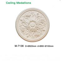 Wholesale Ceiling Centre Decoration PU Ceiling Roses Medallion easy installing from china suppliers