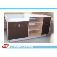 Wholesale MDF Laminated Shop Cash Counter With Drawers , Common Style Retail Desk Counter from china suppliers