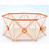 Wholesale Adjustable Portable Baby Safety Fence In Orange , Eight  panel from china suppliers
