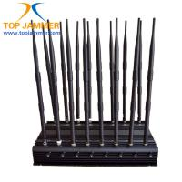 Buy cheap 16 Antenna Full Bands Desktop Jammer Blocker Isolate GSM 3G 4G Wimax UHF VHF Lojack Signal from wholesalers