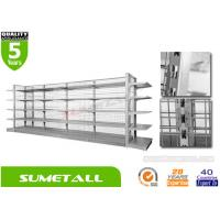 Wholesale Economical Convenience Store Display Racks With Metal Infill Back Panel L1000 X D450 X H1800mm from china suppliers