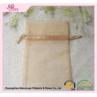 Wholesale Champagne Wedding Drawstring Bag , 10 * 15cm drawstring gift bags Eco - friendly from china suppliers