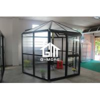 Wholesale 320 X 283 X 275CM Dark Grey Color New Design Hexagon Aluminum Greenhouse from china suppliers