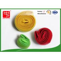 Wholesale Un - Napped Elastic Hook And Loop Strap / 100% Nylon Elasticated hook and loop Straps from china suppliers