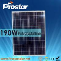Quality Prostar polycrystalline solar panel 190w for solar street lights for sale