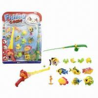 Wholesale 13 Pieces Fish Toys with 2 Pieces Fishing Rods and 11 Pieces Fishes from china suppliers