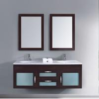 Wholesale curved solid wood bathroom furniture from china suppliers
