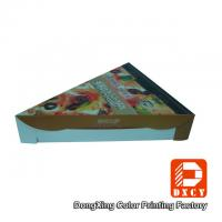 Quality Glossy Varnishing Food Grade Pizza Packaging Boxes Triangle Single Slice Pizza Box for sale