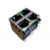 Wholesale XRJD-S-22-8-8-1 Stacked RJ45 Modular Jack , 10/100 Base-T 2x2 Port 8p8c from china suppliers