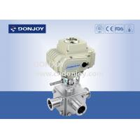 Wholesale Electric actuator three-way ball valve with T type and full port from china suppliers