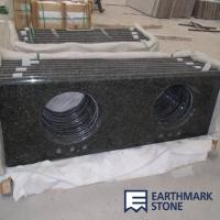 Quality Verde Butterfly Granite Vanity Top for sale
