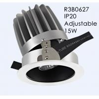 Wholesale Hign CRI Cut out 110mm Adjustable and Dimmable Aluminum White IP20 Interior LED Downlight/R3B0627 from china suppliers