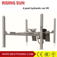Quality Runway type 4 post 220V pneumatic car lift for wheel alignment for sale