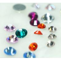 Wholesale DMC rhinestone hot fix crystal stones with machine cut from china suppliers