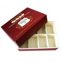 Wholesale Eco-friendly Square Red Printed Recycled Cardboard Paper Gift Boxes for Moon Cake Cookies from china suppliers