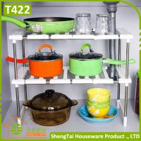 Quality Household Good Helper Multilayer Kithchen Stainless Steel Telescopic Storage Shelf for sale