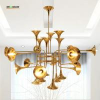 Wholesale Trumpet chandeliers Lighting gold copper chandelier pendant light for Living room Bedrom Ktchen Decoration from china suppliers