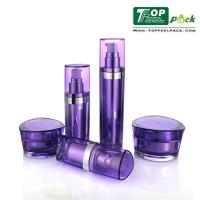 Wholesale UV Coated Acrylic Lotion Dispenser Bottles Prism Shape Customized Logo Printing from china suppliers