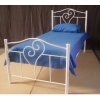 Wholesale Shape of love Simple Fully Welded Metal Frame Bed Single With Strong Structure from china suppliers
