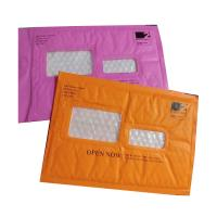 Wholesale Pink Kraft paper  bubble mailers size #5 10.5x16 with window ideal for address label from china suppliers