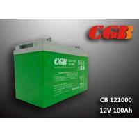 Wholesale CB121000 12v sla battery 100AH , Green slim deep cycle battery Plastic from china suppliers