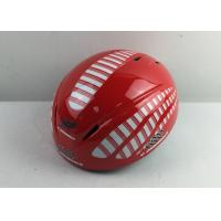 Wholesale Red Stripe Simple Ice Skating Helmet Ladies Adjustable Strap Washable Antibaterial Pad from china suppliers