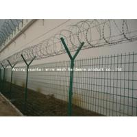 Quality Anti Intruding Airport Security Fencing Panels Electrostatic Polyester Coated for sale