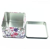 Quality Fashion Food Grade Lunch Tin Boxes Metal Square Tin Can UV Coating Surface for sale