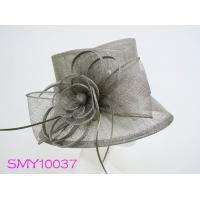 Wholesale Horse racing Taupe ladies occasion hats Small Brim Hats from china suppliers