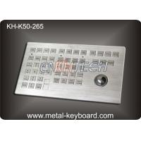 Wholesale Customized Panel Mount Keyboards in Metal , Marine Keyboard with Track ball Metal from china suppliers