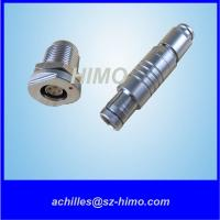 Wholesale high quality 10 pin self-locking ODU chassis mount connector for inspection equipment from china suppliers