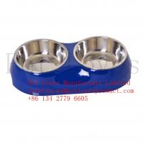China FDA Approval For Amazon And eBay Stores Wholesale Pet Bowl  Low Price Rubber Bottom Stainless Steel on sale