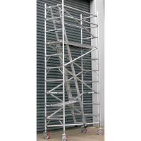 Wholesale Fast Packaged Aluminium / Steel Mobile Tower Scaffold Narrow Ladder For Cleaning Windows from china suppliers