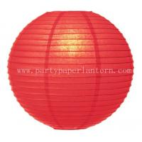 Wholesale 15CM Poppy Red Party Paper Lantern , 6 Inch Paper Lanterns For Table Decorations from china suppliers
