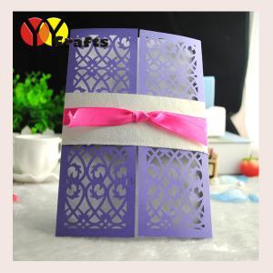 China wedding invitation card 2016 New White Ribbon  Lace Laser Cut DIY Wedding Invitations Printable Wedding Invitation Card on sale