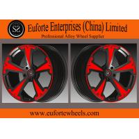 Wholesale SS wheels-Aluminum Alloy 6061 - T6 Forged Wheels Black With Red Face Forged Custom Wheels from china suppliers