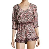 Wholesale Summer Cotton romper featuring a printed design nightdress for women from china suppliers